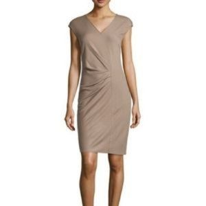 NEW Halston Heritage Midi Ruched Wool dress NWT